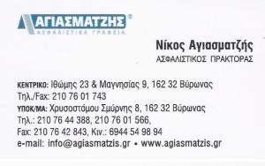 ΑΣΦΑΛΕΙΕΣ ΒΥΡΩΝΑΣ - ΝΙΚΟΣ ΑΓΙΑΣΜΑΤΖΗΣ