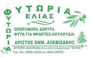 ΦΥΤΟΡΙΑ  ΜΟΙΡΕΣ ΚΡΗΤΗΣ - ΑΛΕΒΥΖΑΚΗΣ ΑΡΙΣΤΟΤΕΛΗΣ