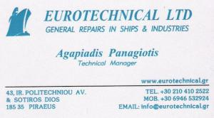 EUROTECHNICAL LTD - GENERAL REPAIRS IN SHIPS AND INDUSTRIES