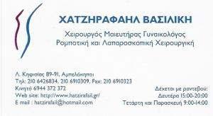 ΧΕΙΡΟΥΡΓΟΣ ΓΥΝΑΙΚΟΛΟΓΟΣ ΑΜΠΕΛΟΚΗΠΟΙ - ΧΑΤΖΗΡΑΦΑΗΛ ΒΑΣΙΛΙΚΗ