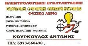 ΗΛΕΚΤΡΟΛΟΓΟΣ  ΚΗΦΙΣΙΑ - ΚΟΥΡΚΟΥΛΟΣ ΑΝΤΩΝΗΣ
