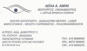 ΧΕΙΡΟΥΡΓΟΣ ΟΦΘΑΛΜΙΑΤΡΟΣ ΚΑΛΛΙΘΕΑ - ΛΕΪΛΑ ΑΜΙΝΙ